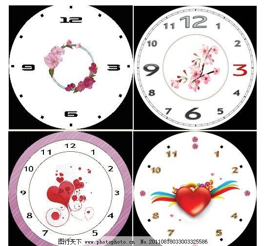 阿拉伯 圆形 浪漫 时尚 工艺钟 时尚钟 创意 现代 印刷 商业 表盘时钟