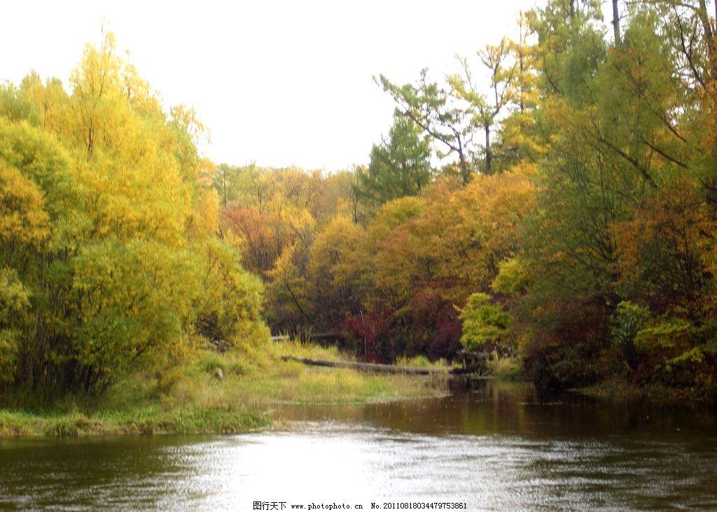 山水风景图 蓝天 白云 山峰 河水 树 自然风景 自然景观 摄影 山水