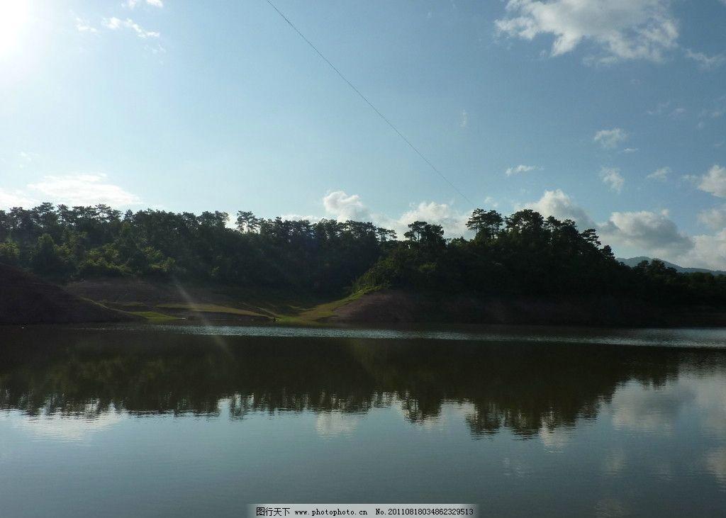 那板水库青山绿水 青山 绿水 风景 旅游 蓝天 白云 湖水 山峦 绿山