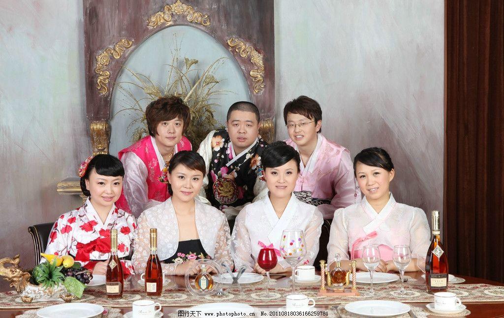 韩国全家福 韩国婚纱 温馨 韩国摄影 人物 日常生活