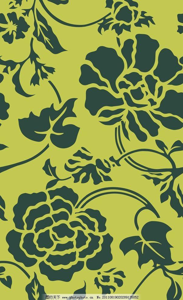 古典花纹 古典 花纹 缠枝 背景底纹 底纹边框 设计 118dpi jpg