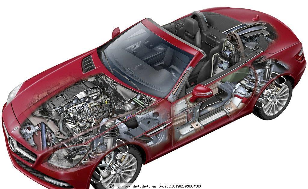 奔驰汽车内部结构图片