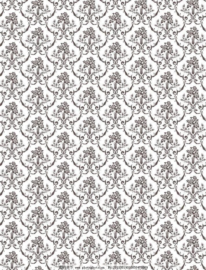 对称 古典 古典底纹 无缝古典花纹欧式花纹底纹矢量素材 无缝古典花纹
