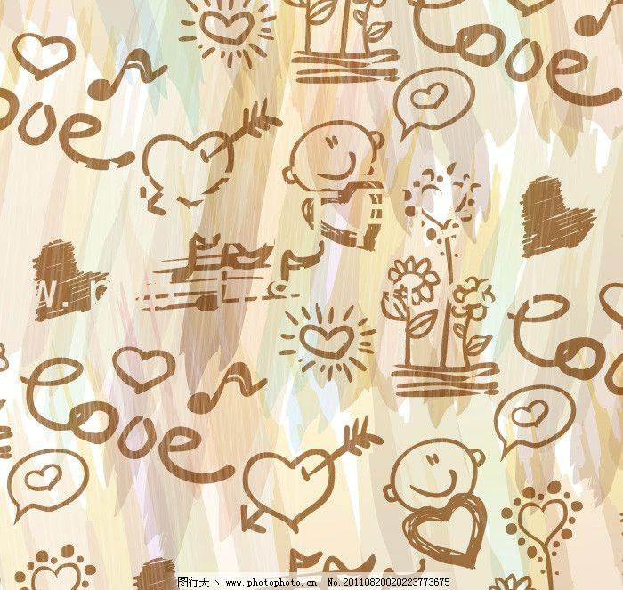 可爱卡通 条纹线条 花纹 边框 纹理 时尚花纹 底纹 方格 灰色线条