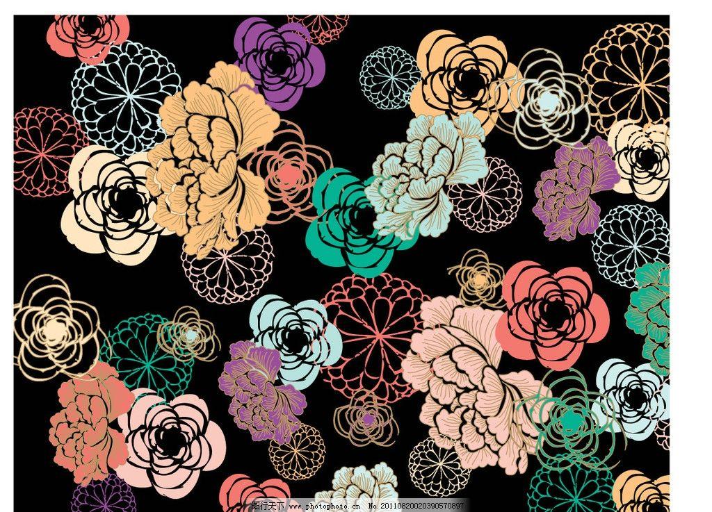 五颜六色 欧式花边