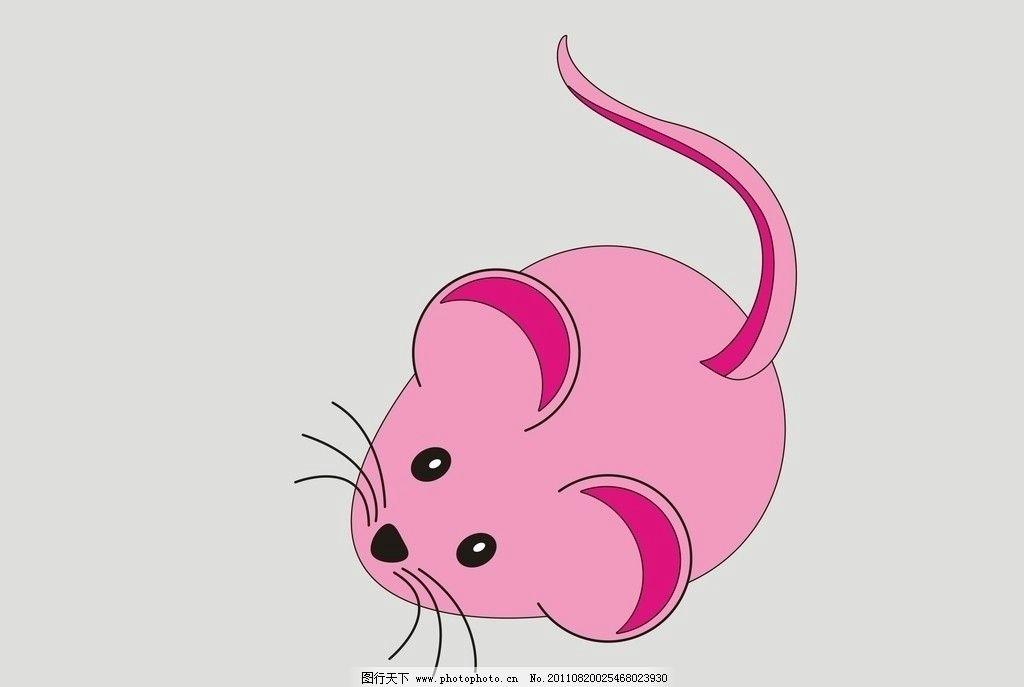 卡通老鼠 可爱 线条 其他生物 矢量