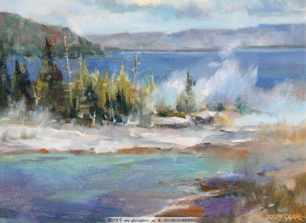 油画风景 油画 风景 艺术 绘画 树木 绘画书法 文化艺术 设计 72dpi