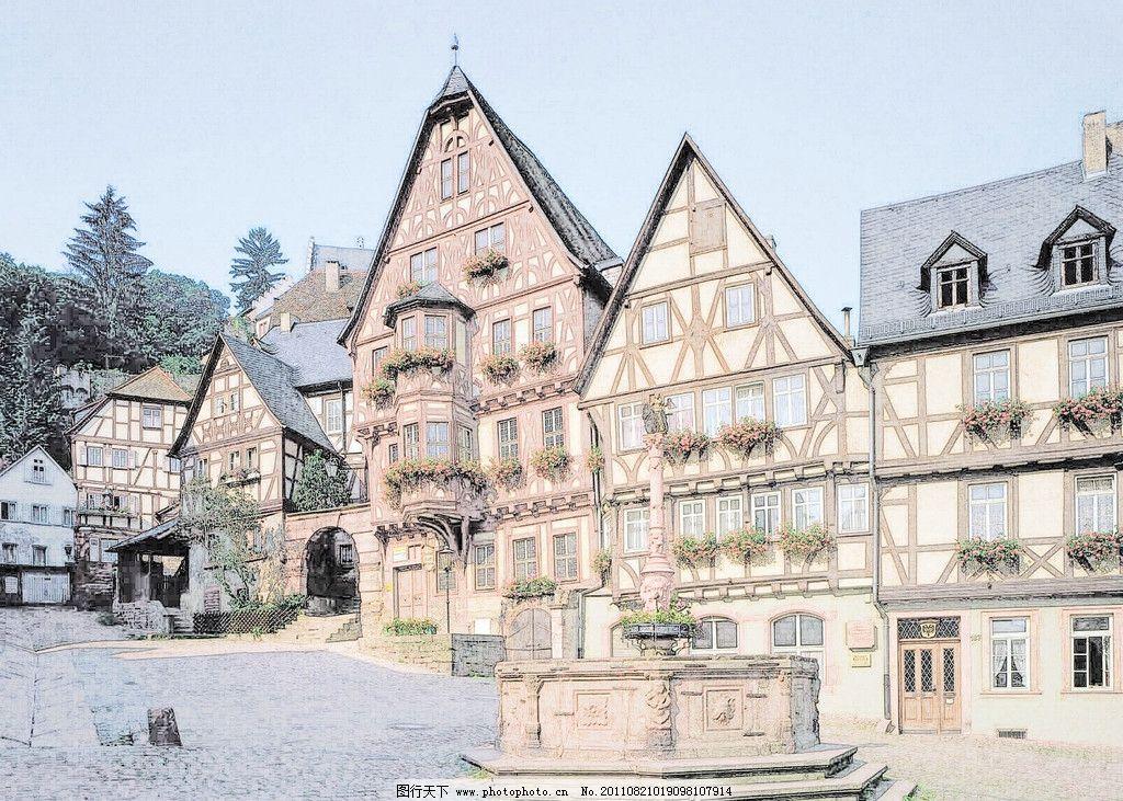 欧式建筑 欧式 建筑 房屋