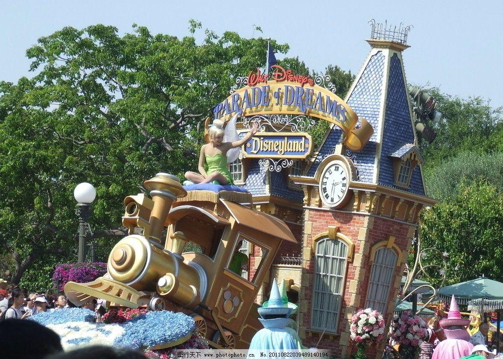 迪斯尼乐园 小飞侠 小精灵 迪斯尼 风景 旅游 游乐园 城堡 花卉 雕像