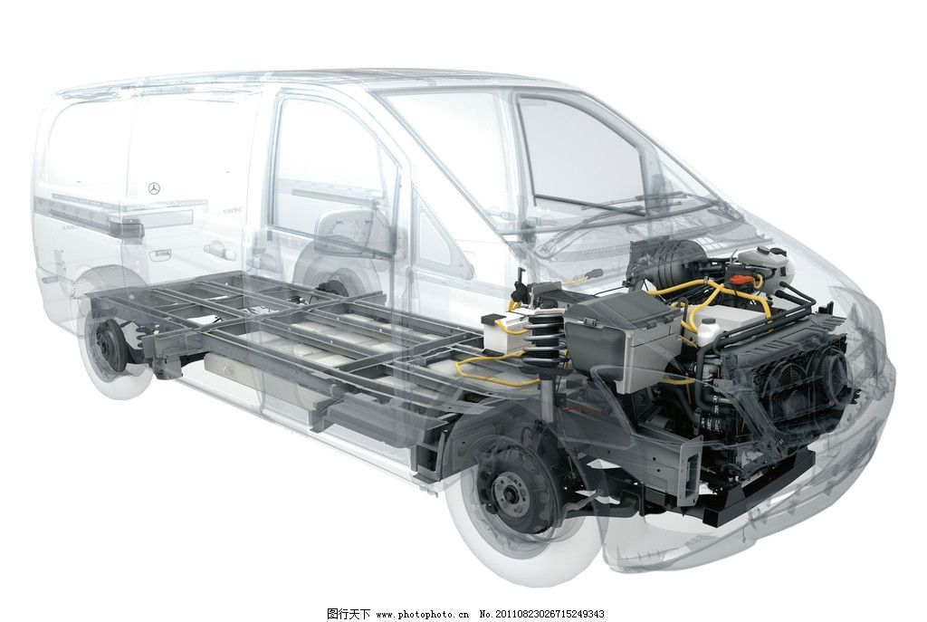 奔驰商务车结构图图片