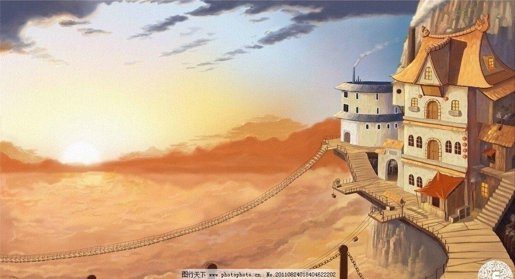 欧式房子的涂鸦图片
