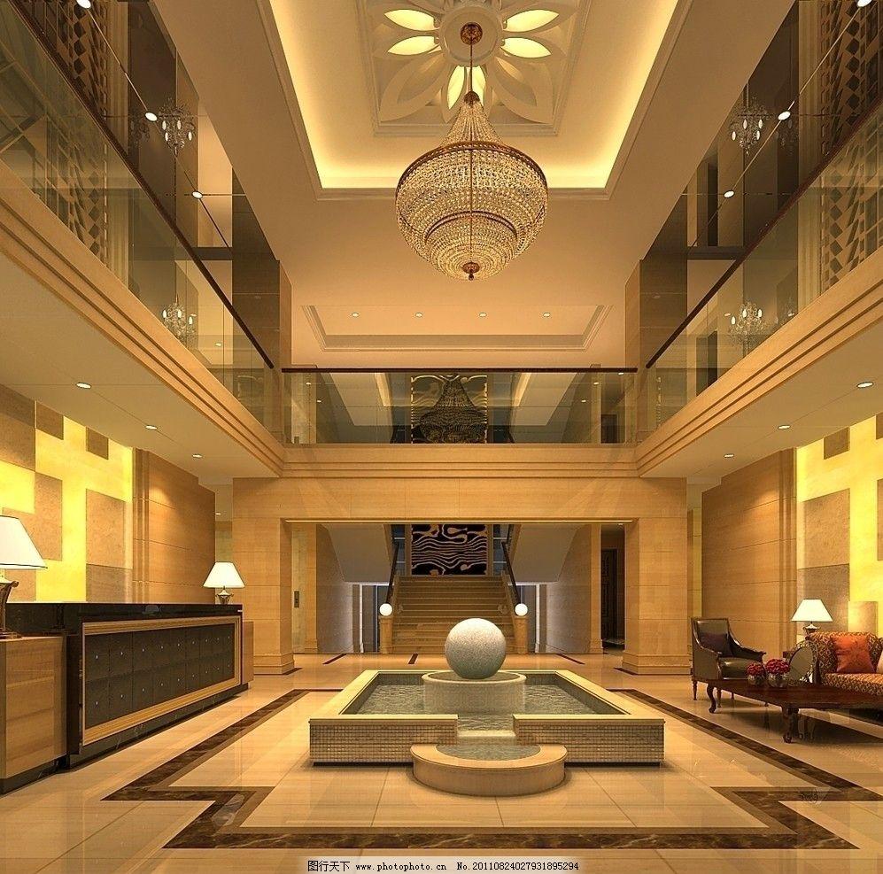 高档酒店大堂 酒店 大堂 高档 室内设计 环境设计 设计 72dpi jpg