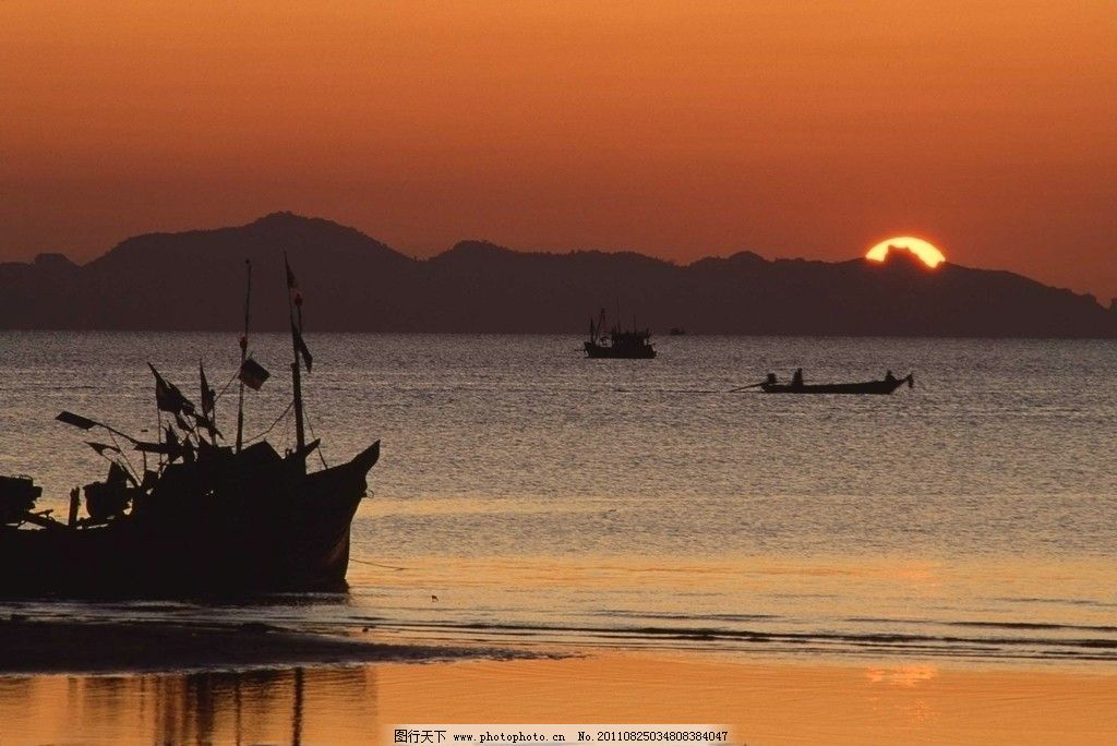 海边日出 摄影 大自然 风光 自然景观 自然风景 300dpi jpg
