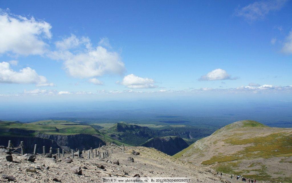 山顶眺望图片,风景 蓝天 白云 高山 摄影-图行天下图库