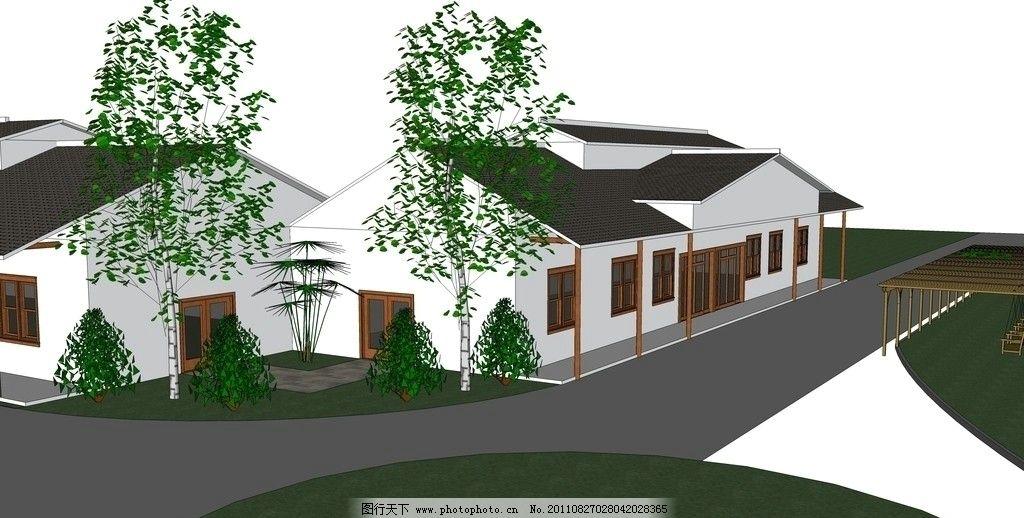 商业街景观空间 江西凤凰沟景区 商业街景观 规划设计 建筑设计 环境