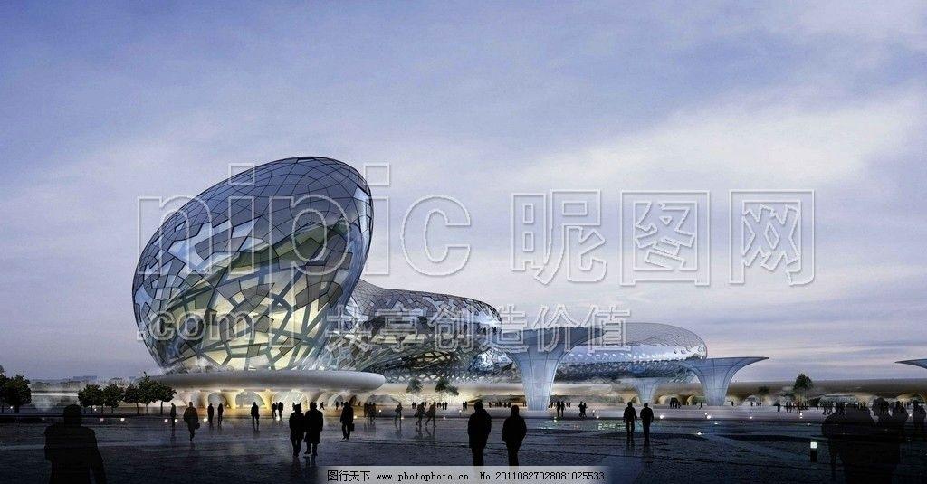 展览馆 建筑鸟瞰图 鸟瞰图 高楼大厦 环境设计 园林设计 园林景观