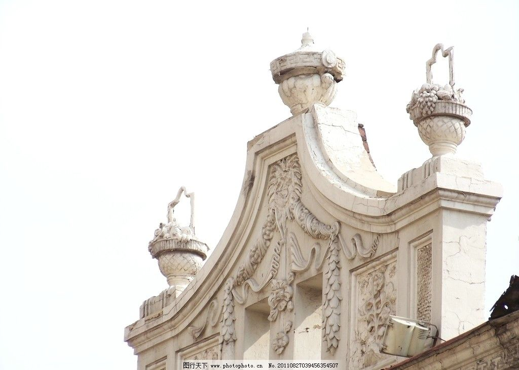 房顶 顶饰 著名景点 欧式建筑 砖混结构 白色外墙 建筑摄影 建筑园林