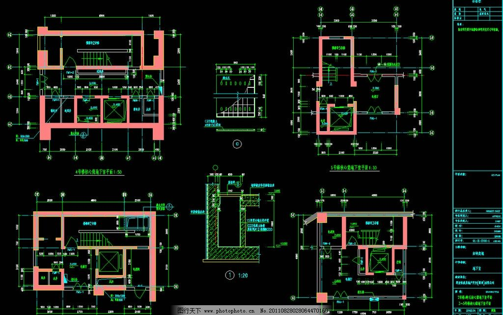 核心筒地下室平面 图纸 装修 装饰 施工图 室内设计 楼层 住宅楼