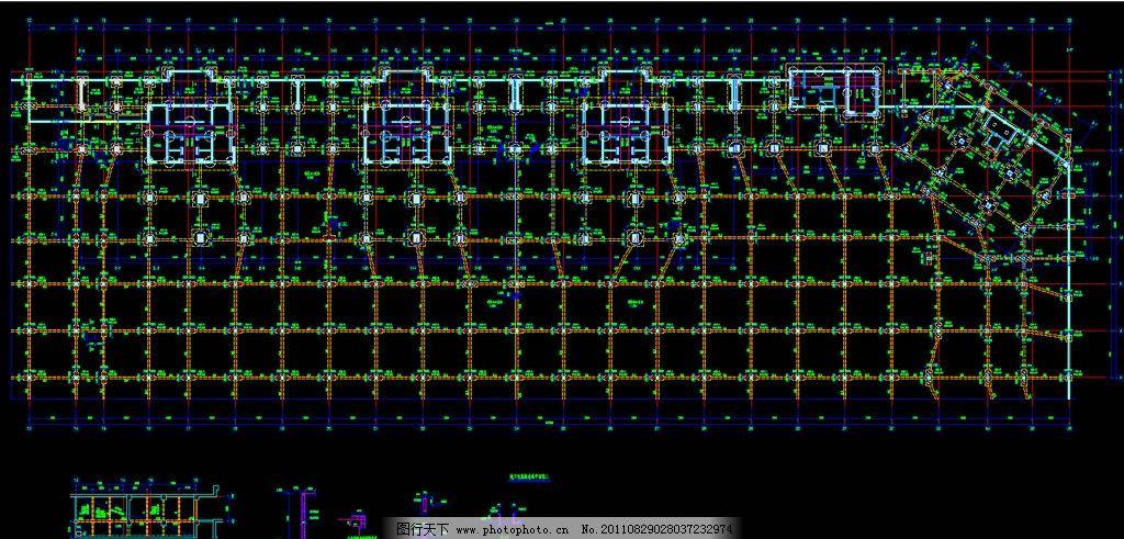 地下室底板结构平面图图片