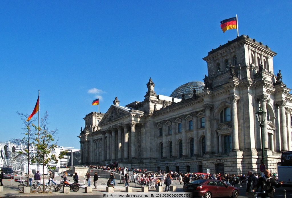 德国 柏林 国会大厦图片