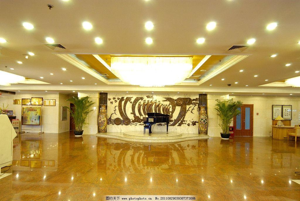 宾馆大堂 亮丽 灯管 钢琴 灯光 豪华 宽敞 酒店大堂 室内摄影