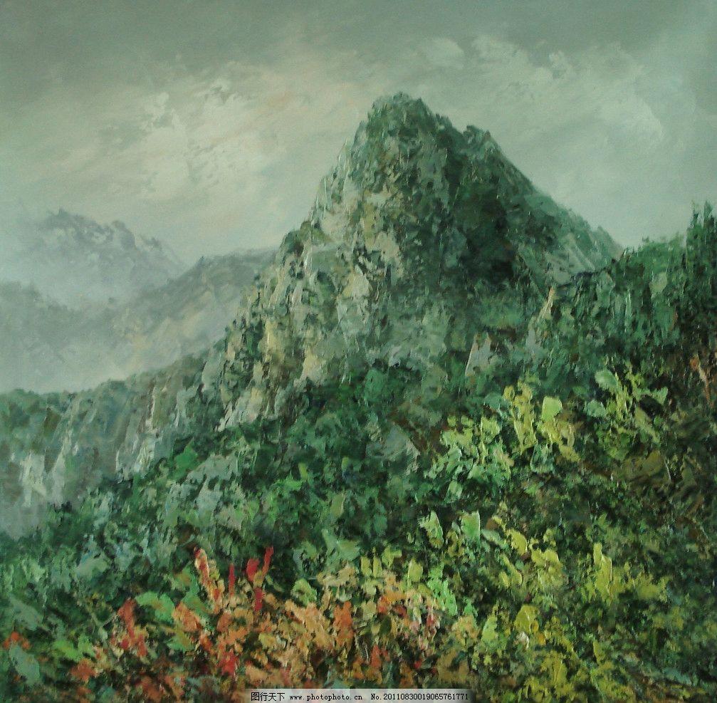 庐山风景水粉画图片
