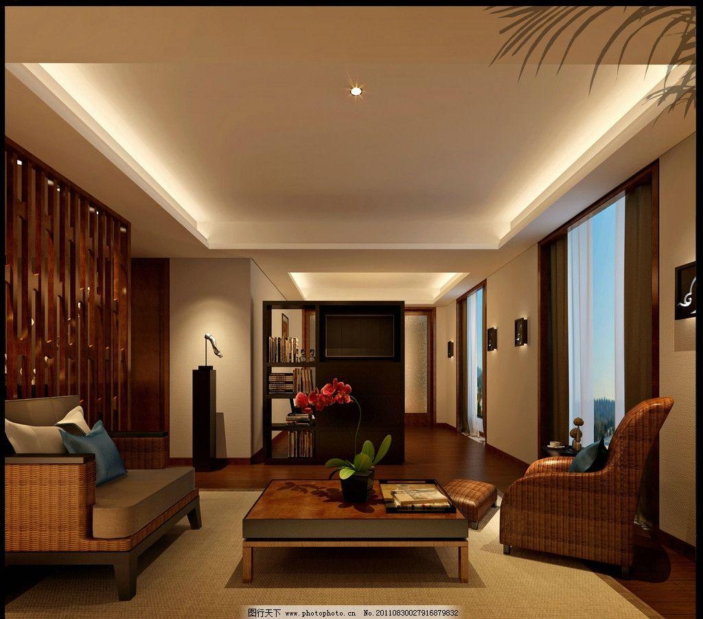 设计图库 环境设计 室内设计  套房效果图 套房 酒店 房间 会客厅