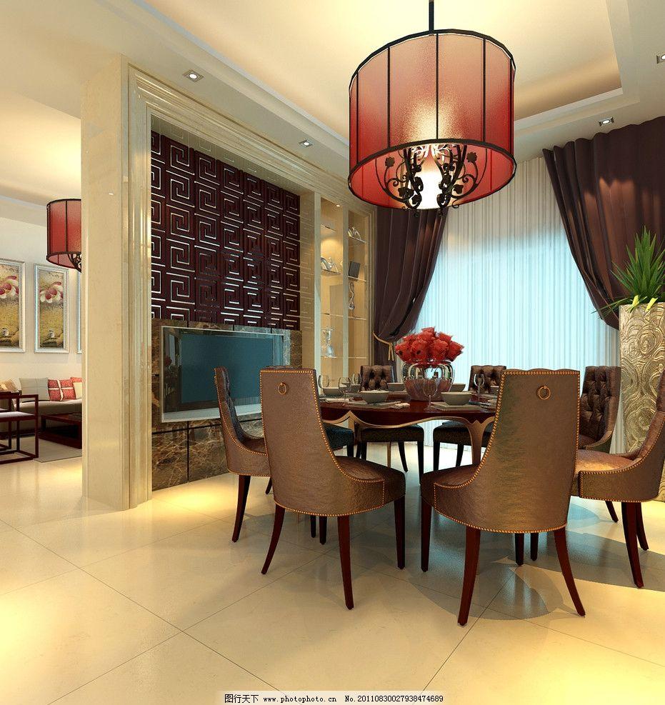 汕尾碧桂园现代中式餐厅 效果图 古典 高品质 室内设计效果图
