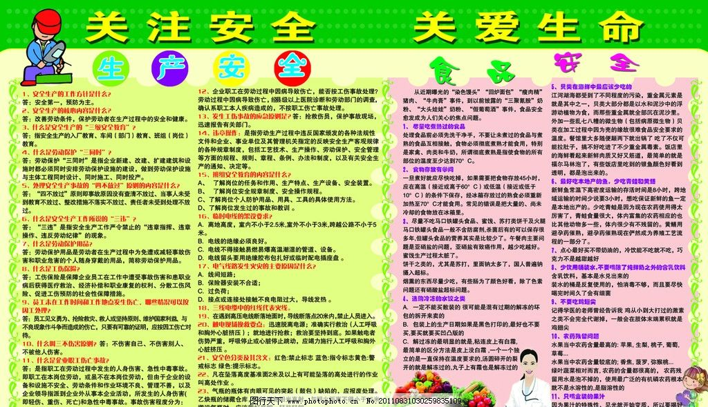食品安全展板 海报 饮食 蔬菜 展板模板 广告设计模板 源文件