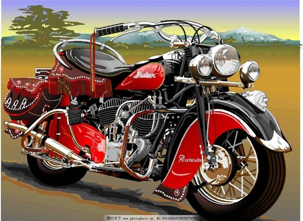 摩托车 手绘摩托车 彩绘摩托车