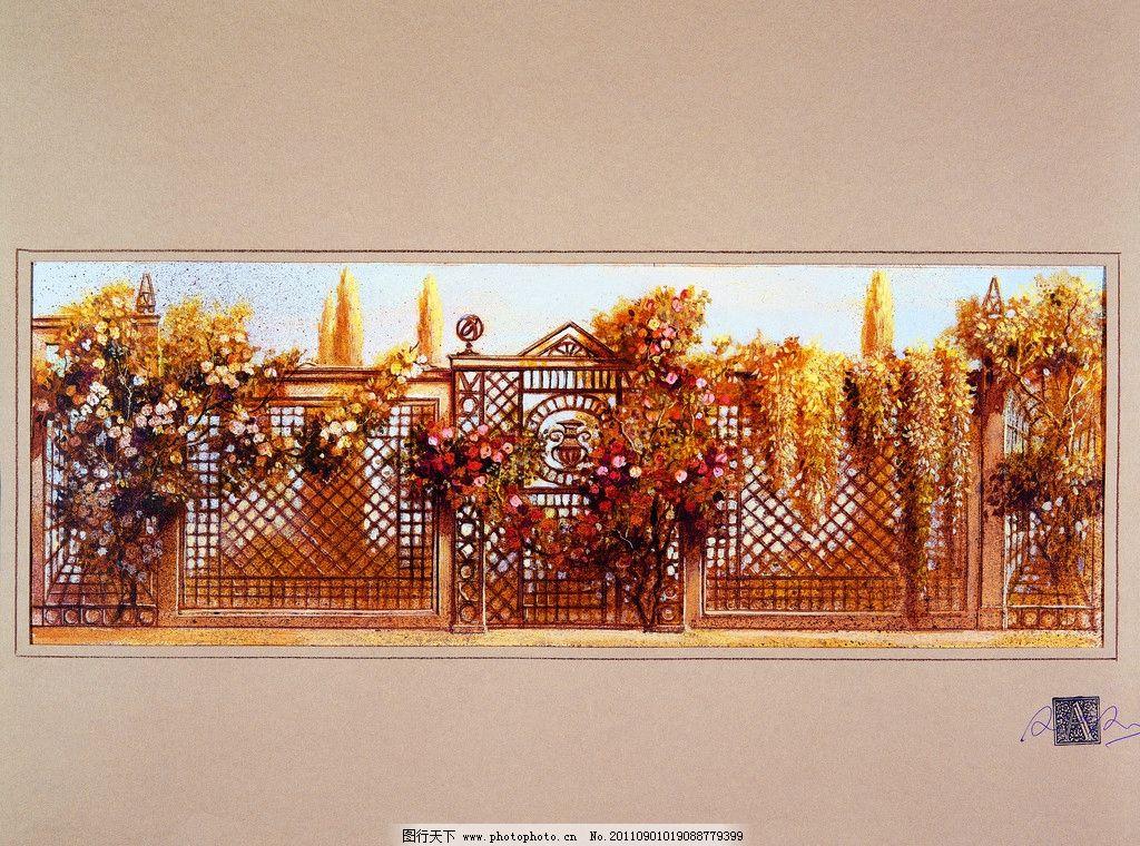 欧美装饰墙画 美术绘画图片图片