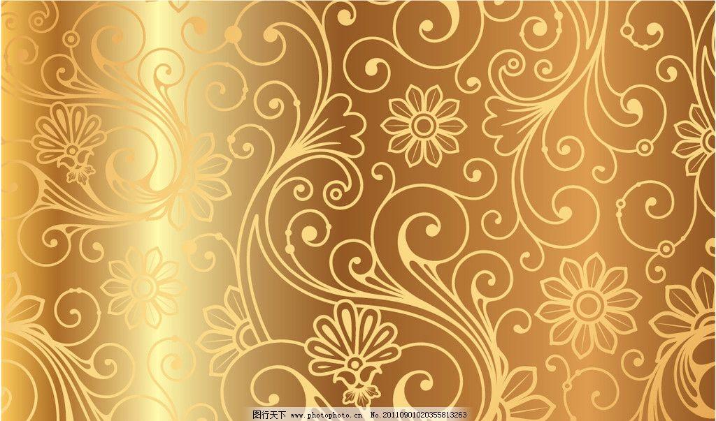 欧式金色花纹背景图片