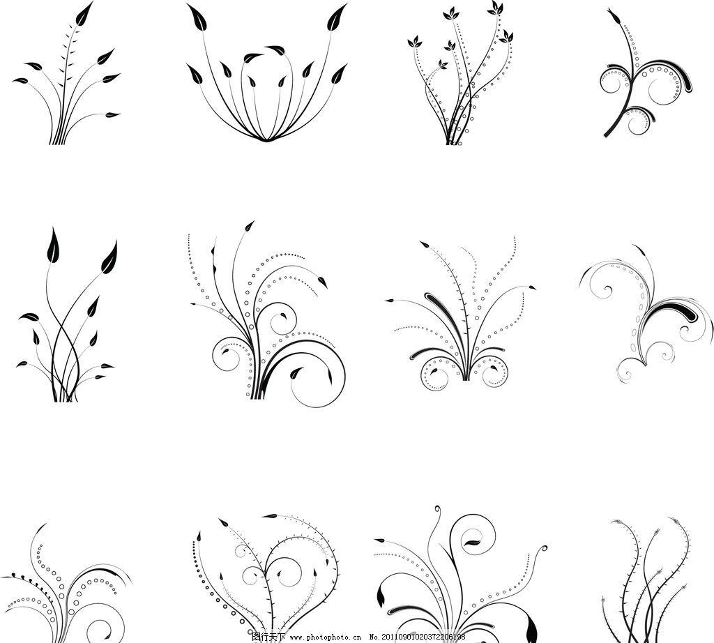 欧式花纹 花藤 枝条 花纹 花边 欧式花边 欧式边框 花纹边框 古典花纹