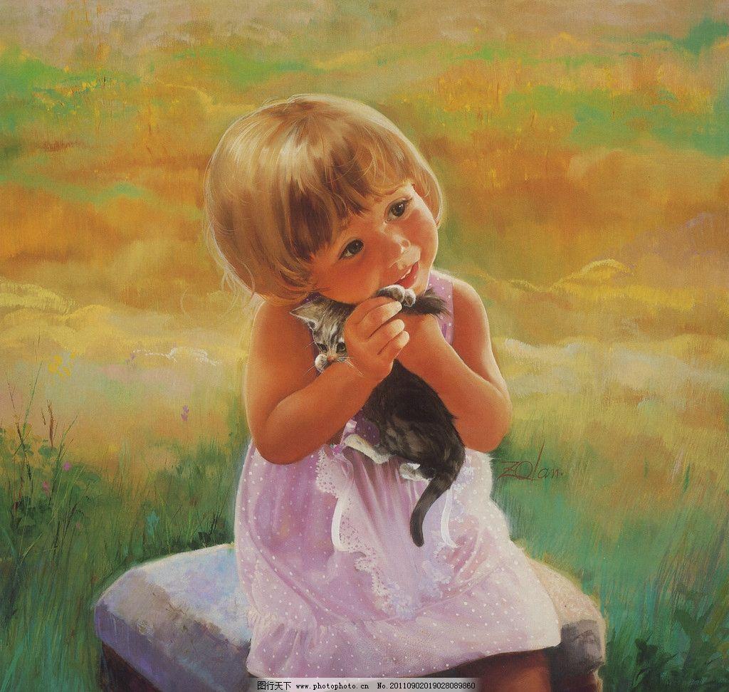 法国儿童水彩画图片