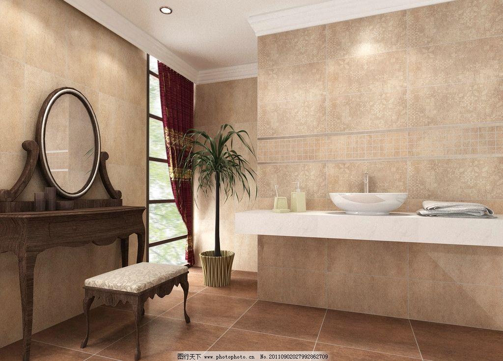 室内效果图 欧式风格 洗手台