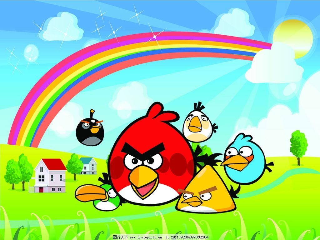 愤怒的小鸟 愤怒鸟 鸟蛋 矢量背景 卡通人物 动画人物 可爱卡通