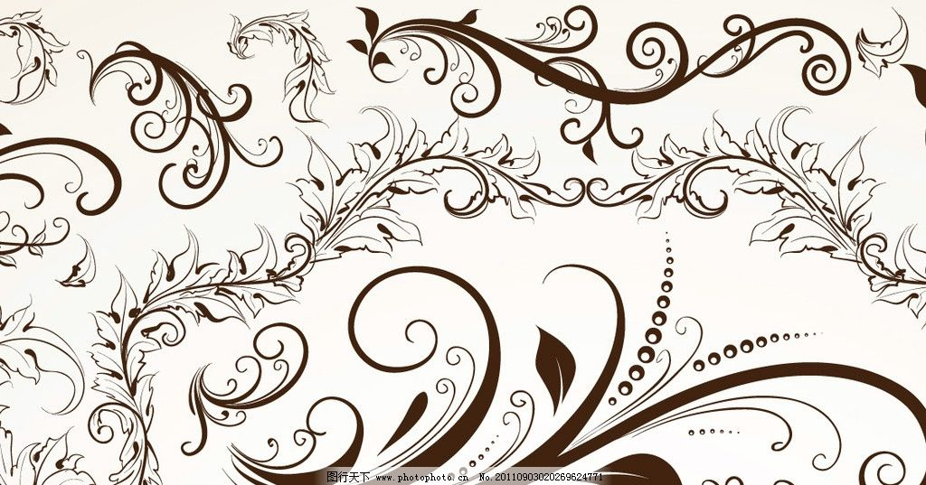 欧式花纹 麦穗图片