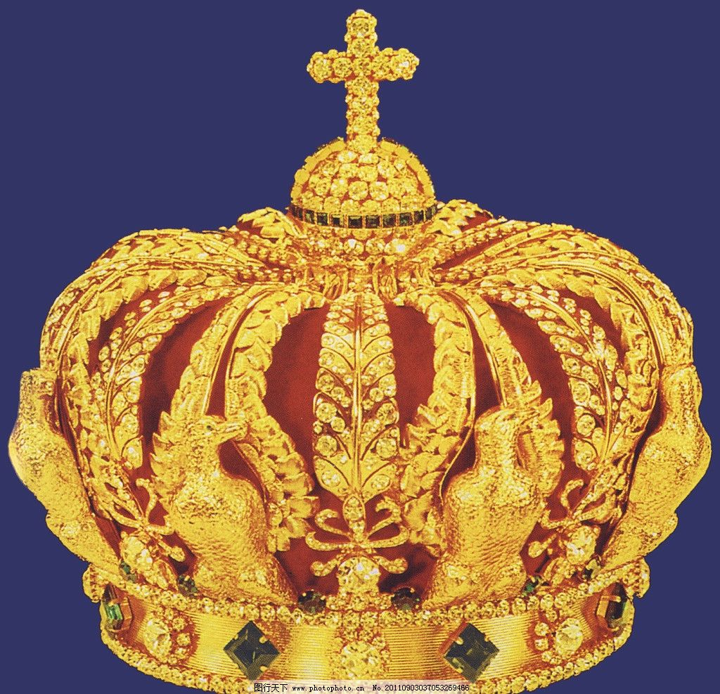 欧式皇冠 珠宝 欧式宫廷 金色 生活素材 摄影