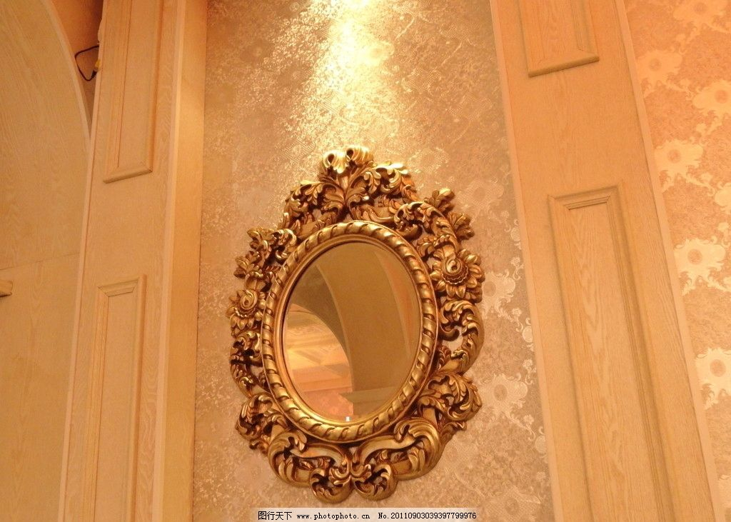 欧式镜子图片