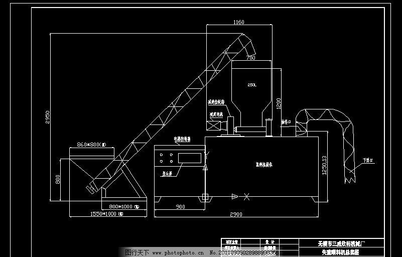 失重喂料机总装图 机械图 总装图 喂料机 机械制图 cad设计图 源文件