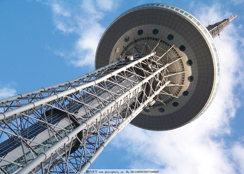 钢塔 金属 人文 天空 蓝天白云 仰视 城市 建筑 高大 旅游 钢结构建筑