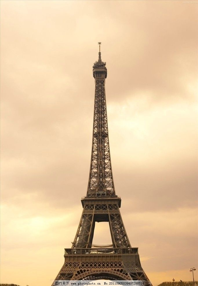 埃菲尔铁塔 巴黎 仰视