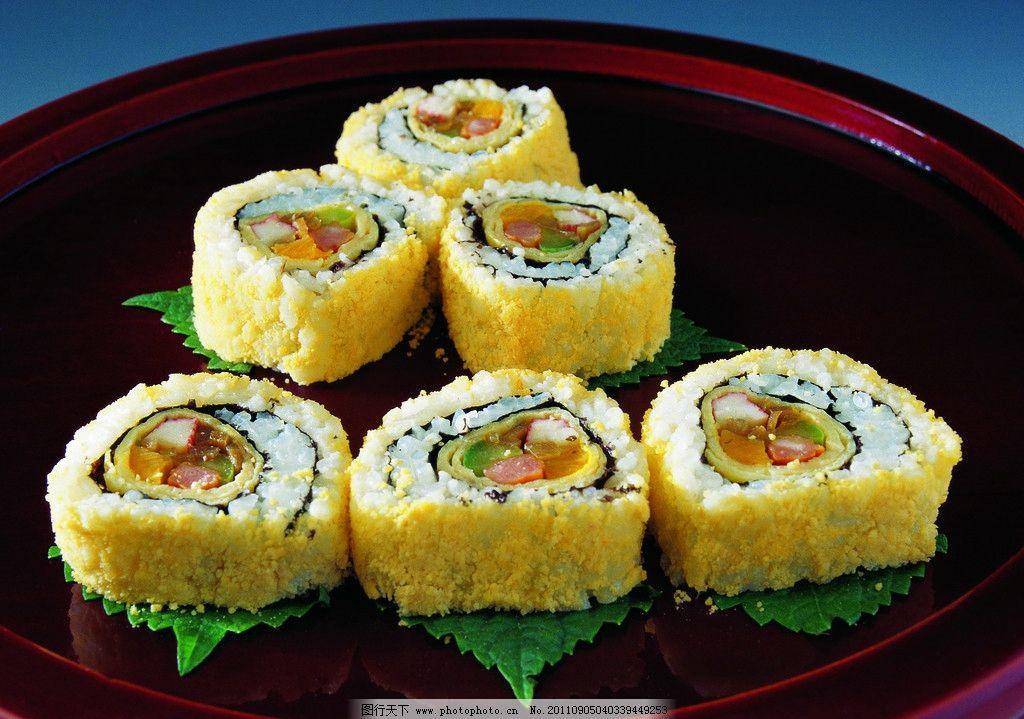 寿司 寿司拼盘 日本寿司 海鲜 青菜 紫菜 美食 饭团 芥末 春卷