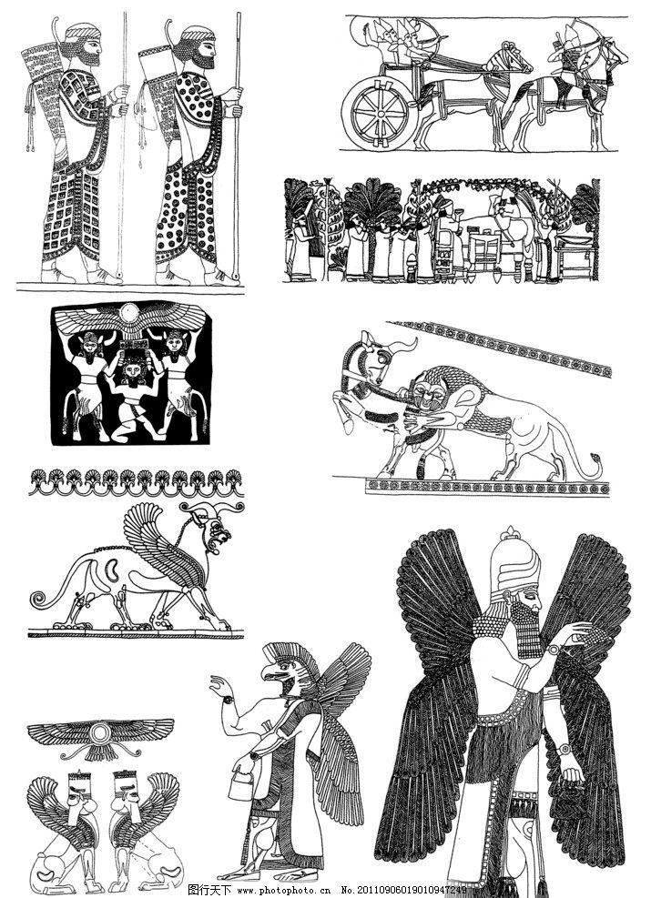 国外古典装饰花纹图片_绘画书法_文化艺术_图行天下