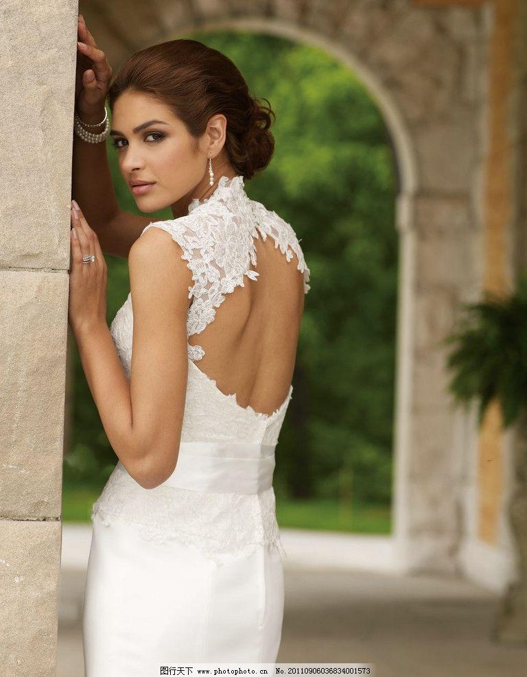 婚纱模特 国外美女模特 女性女人 人物图库 摄影 100dpi jpg