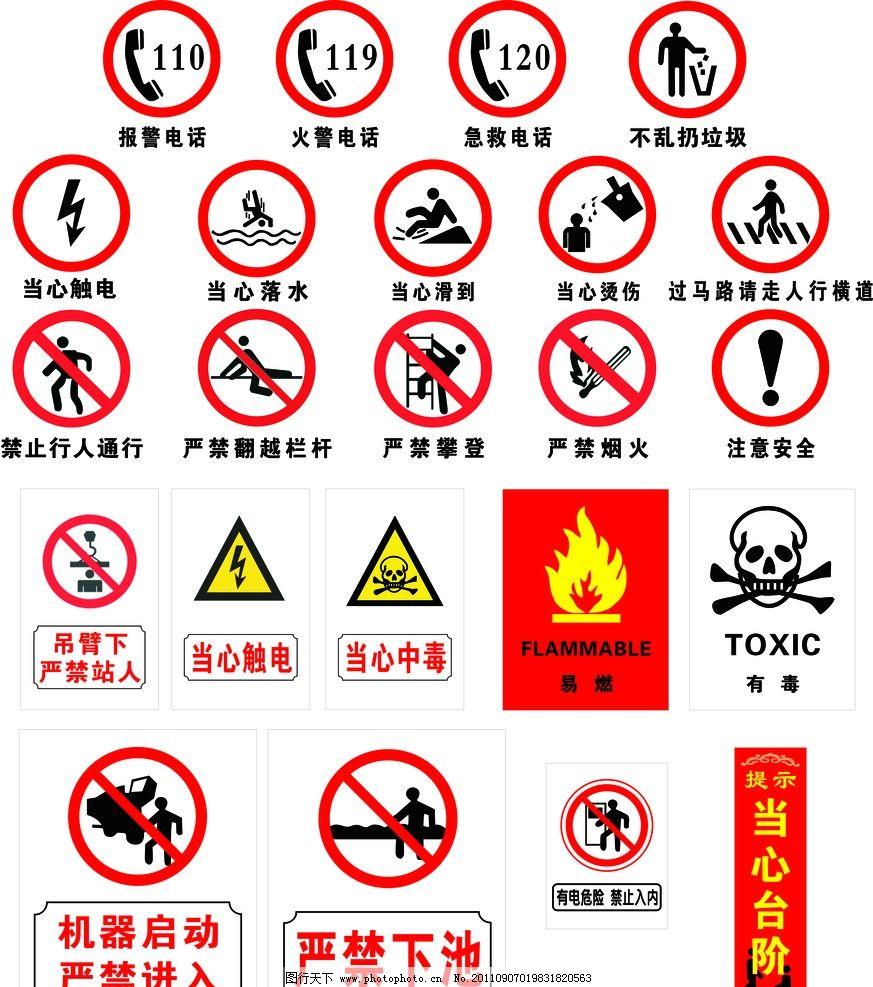 安全标志总汇图片
