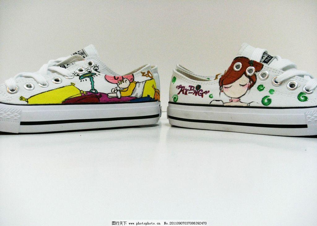 手绘鞋图片