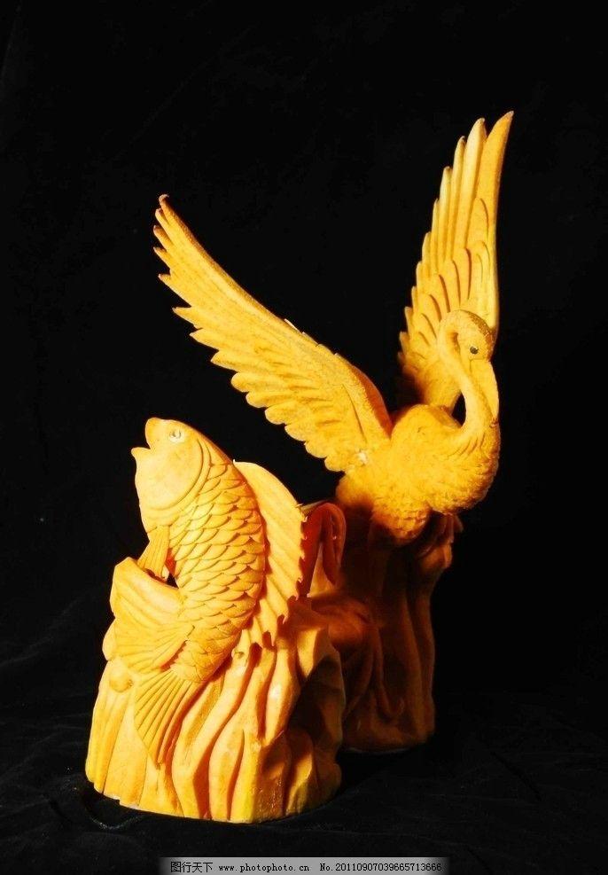 仙鹤展翅 仙鹤 木雕 雕刻 艺术品 工艺品 雕塑 建筑园林 摄影 200dpi