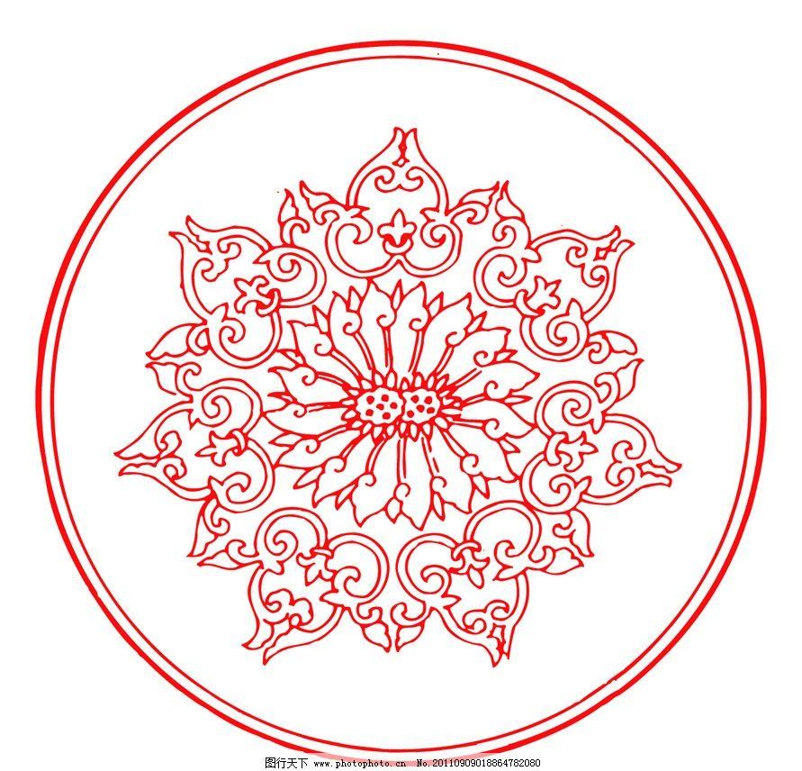 红色 传统 中国设计 吉祥图案 古典图案 古典纹样 剪纸 春节 祥云