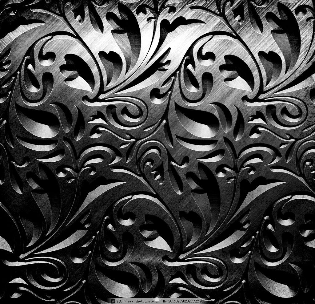 金属花纹 质感花纹 银色花纹 雕刻花纹 质感 金属感 欧式花纹背景底纹